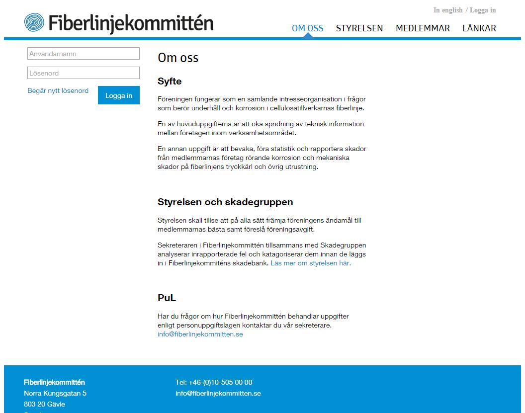 Design, en undersida på Fiberlinjekommittén
